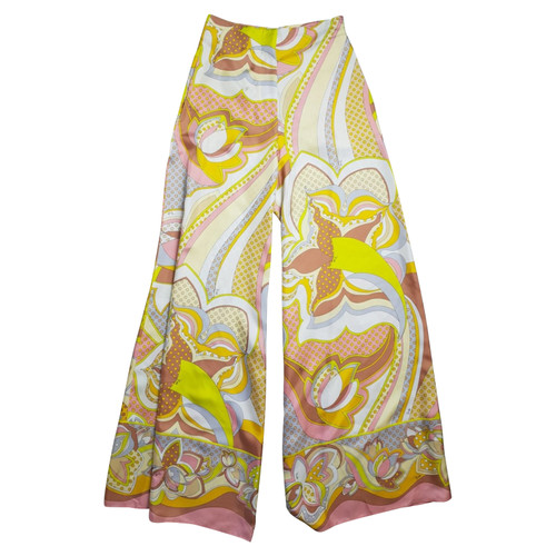 buy popular b7745 fbfe1 Emilio Pucci Paio di Pantaloni in Seta in Giallo - Second ...