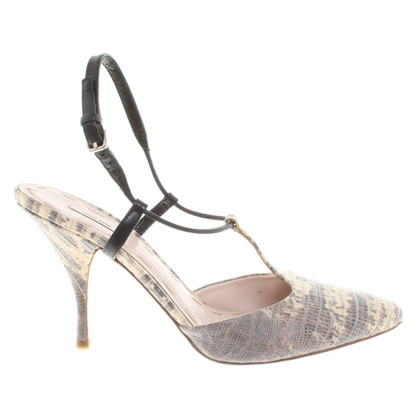 Miu Miu pumps from python leather