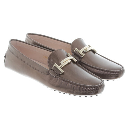 Tod's Slipper métallique Brown