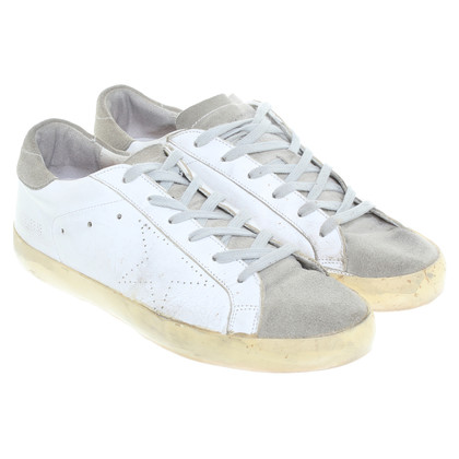 Golden Goose Sneakers in white/khaki