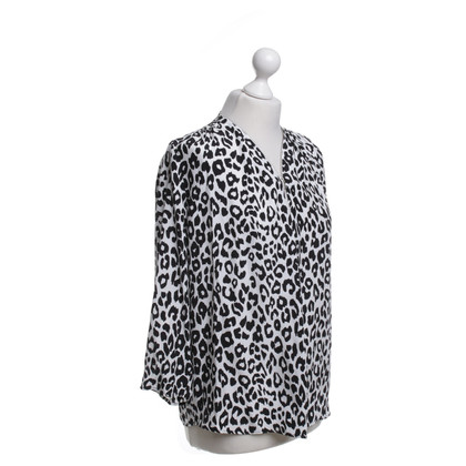 Sandro Blouse with animal print