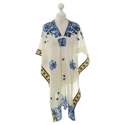 Hoss Intropia Poncho met decoratief patroon