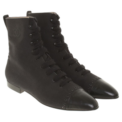 Chanel Ankle boots for lacing