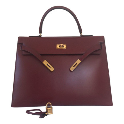 "Hermès ""Kelly Bag 35 Box Calf Leather"""
