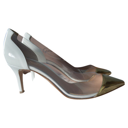 Gianvito Rossi plexi pumps  with little defects