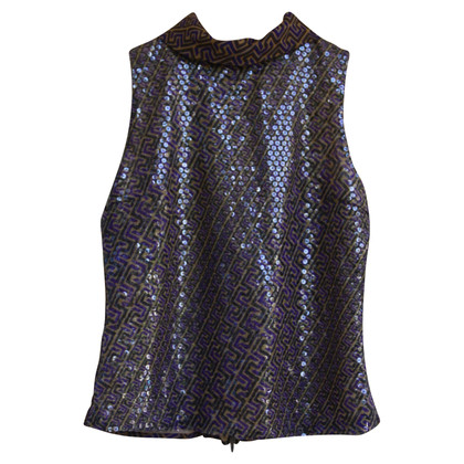 Versace Top with sequin trim