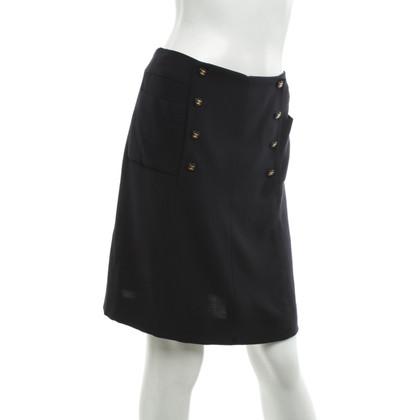 Chanel skirt in dark blue