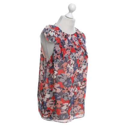 L.K. Bennett top with a floral pattern