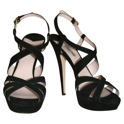 Miu Miu sandali Strap Suede