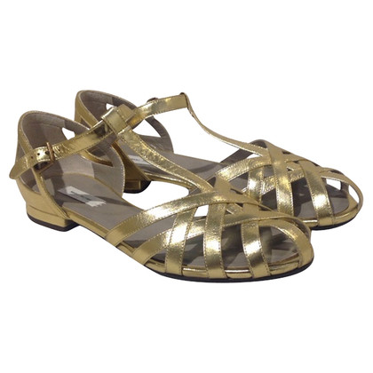 Marc Jacobs Sandalen in Gold