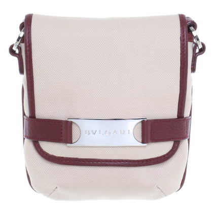 Bulgari Beige/bordeaux small tas