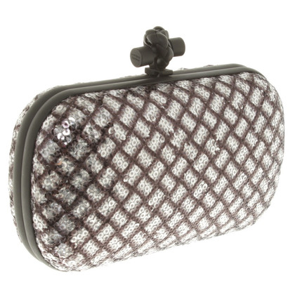 Bottega Veneta clutch con paillettes