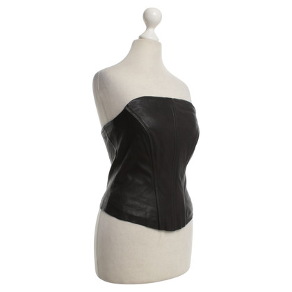 Guido Maria Kretschmer Leather Bandeau Top