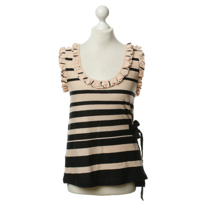 Sonia Rykiel Ruffle top with stripes