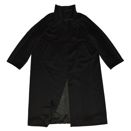 Marina Rinaldi Black Wool Coat
