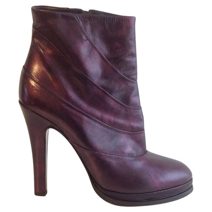 JOOP! Enkel laarzen in Bordeaux metallic