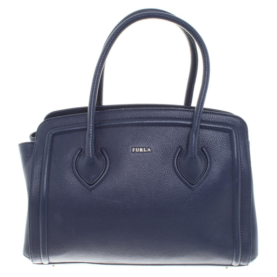 furla handtasche in blau second hand furla handtasche in. Black Bedroom Furniture Sets. Home Design Ideas