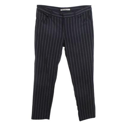 Acne Pinstripe pants in blue