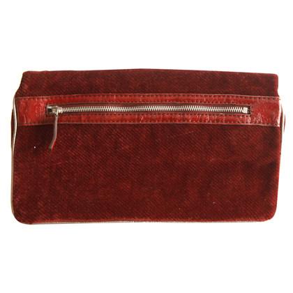 Stella McCartney Velvet clutch with coin purse