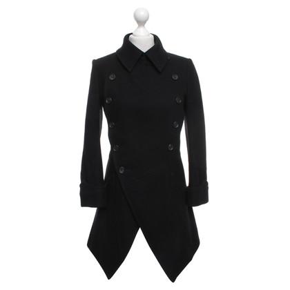 Yohji Yamamoto Wool coat in black