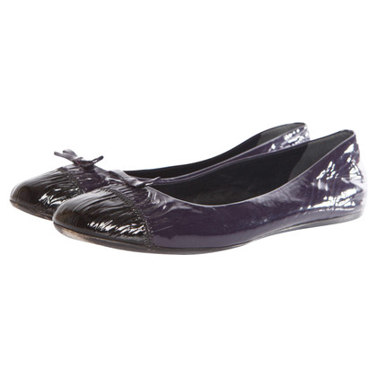 Prada patent leather ballerina