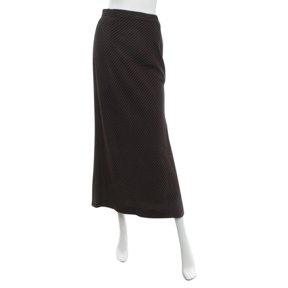 Salvatore Ferragamo Langer skirt with pinstripe
