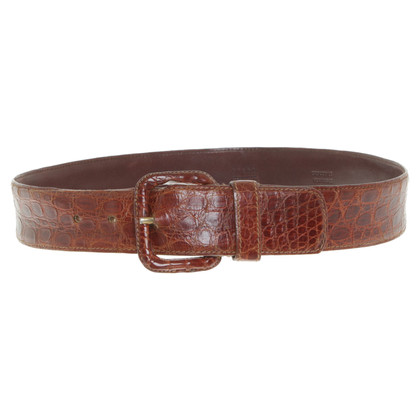 Prada Belt made of crocodile leather
