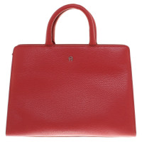 Aigner Leather handbag in red