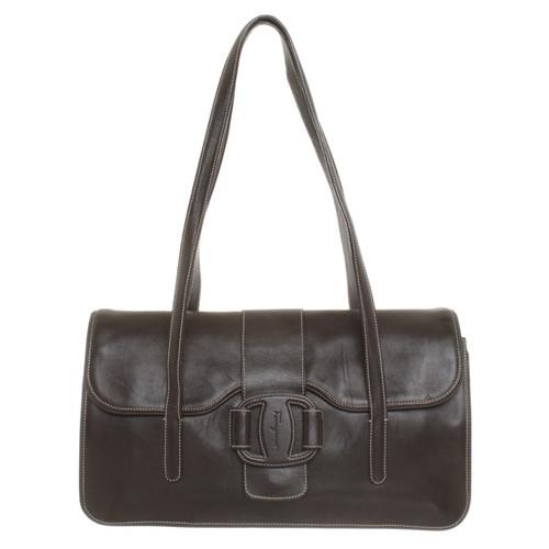 8d096c4e17 Salvatore Ferragamo Handbag in Brown - Second Hand Salvatore ...