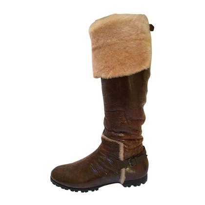 Casadei Knee high fur boots
