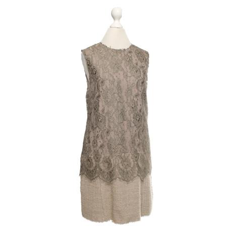 Angebote Günstig Online Verkauf Günstigsten Preis Dolce & Gabbana 2-Lagiges Kleid aus Spitze Beige Outlet Großer Rabatt Genießen Freies Verschiffen LwpHz3