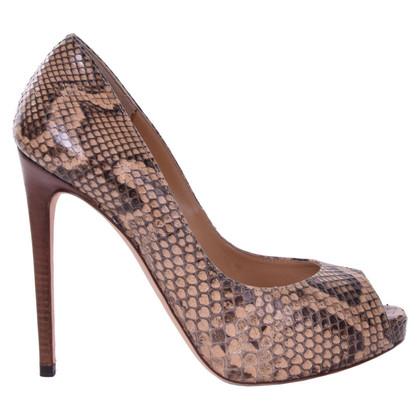Dolce & Gabbana Python leather peep toes