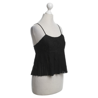 Chanel top in seta con pizzo