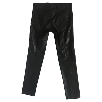 Balmain Black biker trousers
