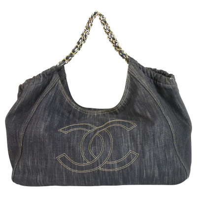 Chanel Blue Jean Denim Cabas Tote Bag