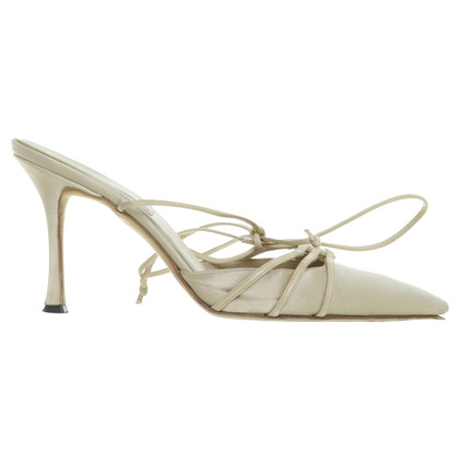 Manolo Blahnik Sling mules in cream