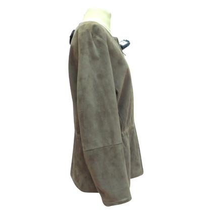 Jil Sander Lederen jas met een taille