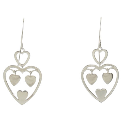 Christian Dior Earrings with heart pendants
