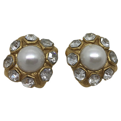 Chanel big vintage earrings with stones