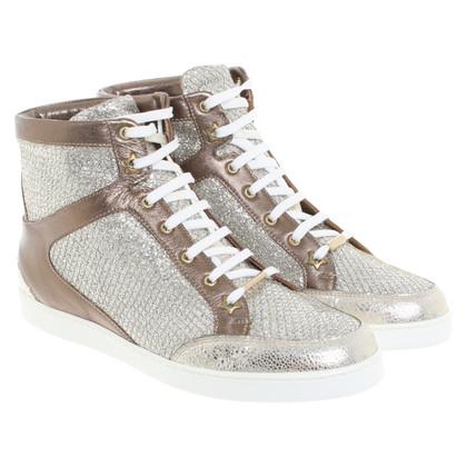 Jimmy Choo Sneakers en argent / or