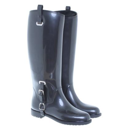 Ralph Lauren Stivali da pioggia metallizzato