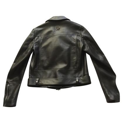 Philipp Plein Leather jacket in biker style