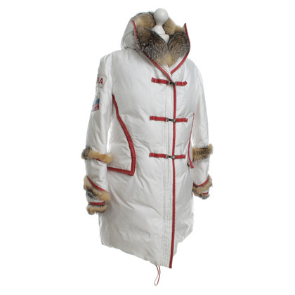 Ermanno Scervino Down parka with fur trim