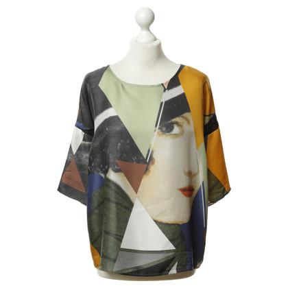 Odeeh Colorful silk top
