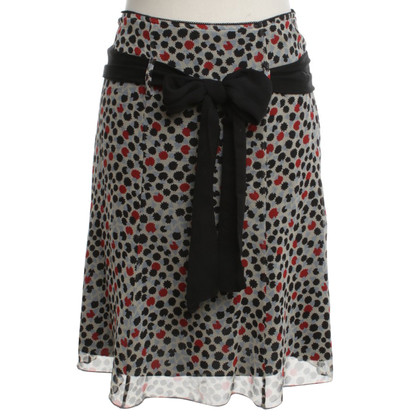 Comptoir des Cotonniers Silk skirt with pattern