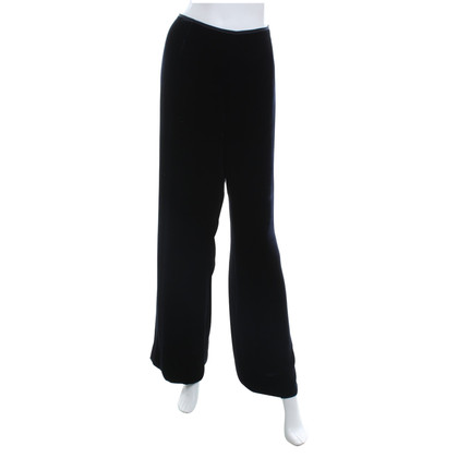 Marina Rinaldi Velvet trousers in night blue