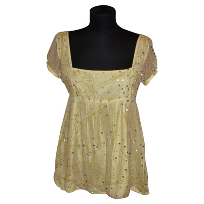 Antik Batik Babydoll blouse with sequins