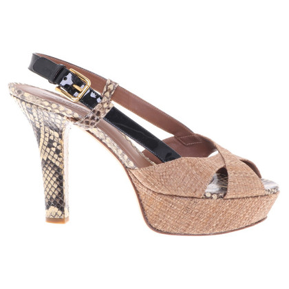 Dolce & Gabbana Plateau-Pumps met slangenhuid