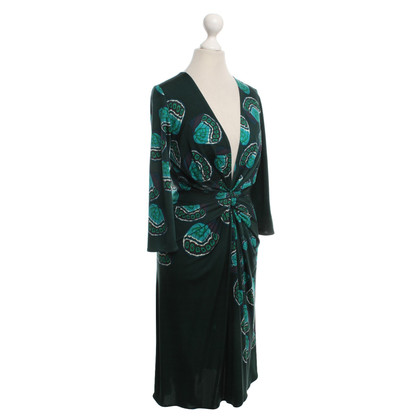 Issa Silk dress with motif patterns