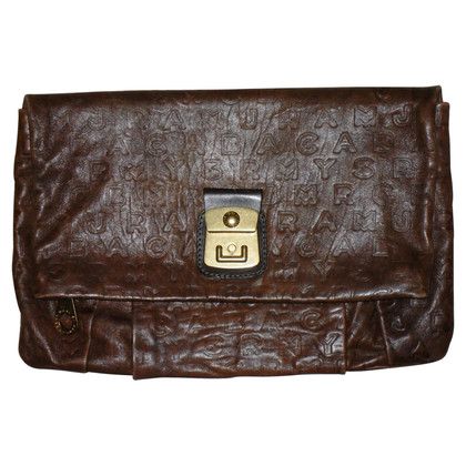 Marc by Marc Jacobs clutch bruin leer